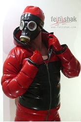 Puffer latex jacket